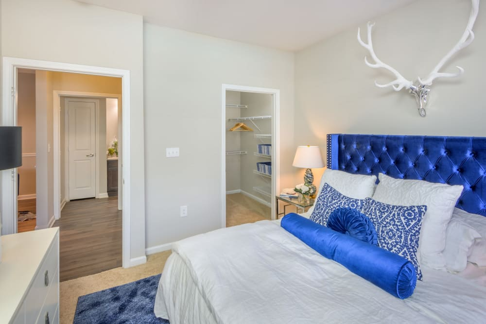 Model home bedroom at Sterling Town Center in Raleigh, North Carolina