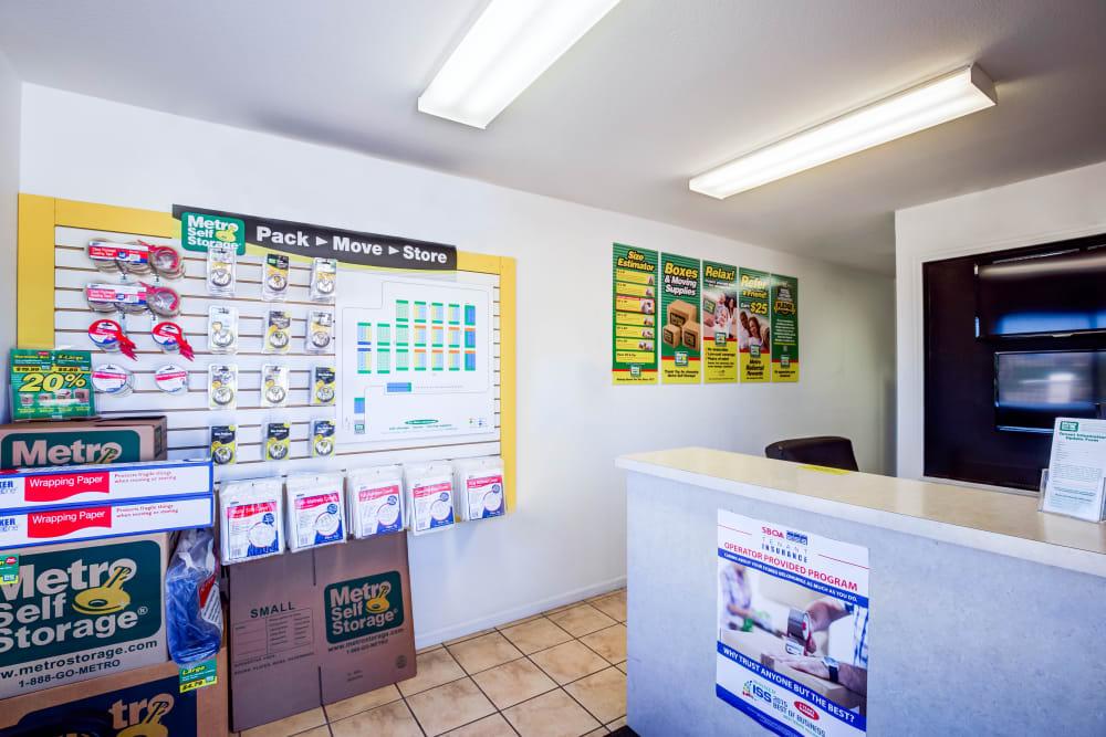 Leasing office reception at Metro Self Storage in Topeka, Kansas