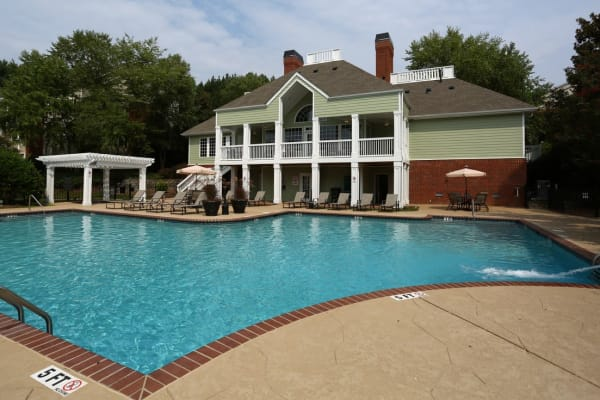 Large resident pool at Broad River Trace in Columbia, South Carolina.