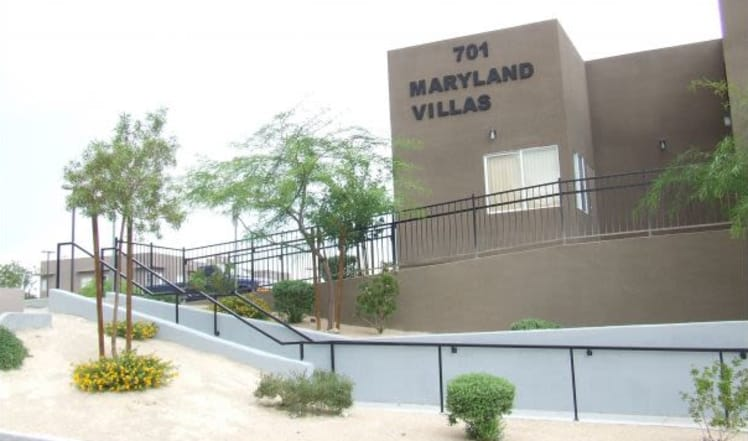 Community view at Maryland Villas in Las Vegas