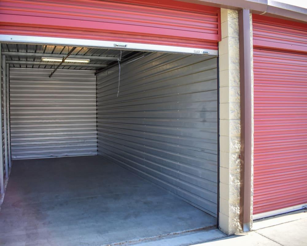 Enclosed auto storage at STOR-N-LOCK Self Storage in Rancho Cucamonga, California