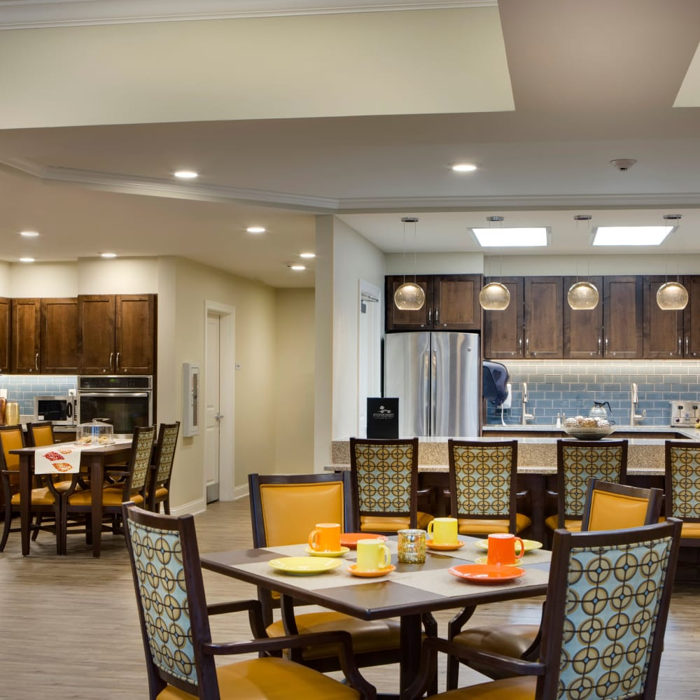 View of one of our Stonecrest Senior Living communities' gorgeous dining hall