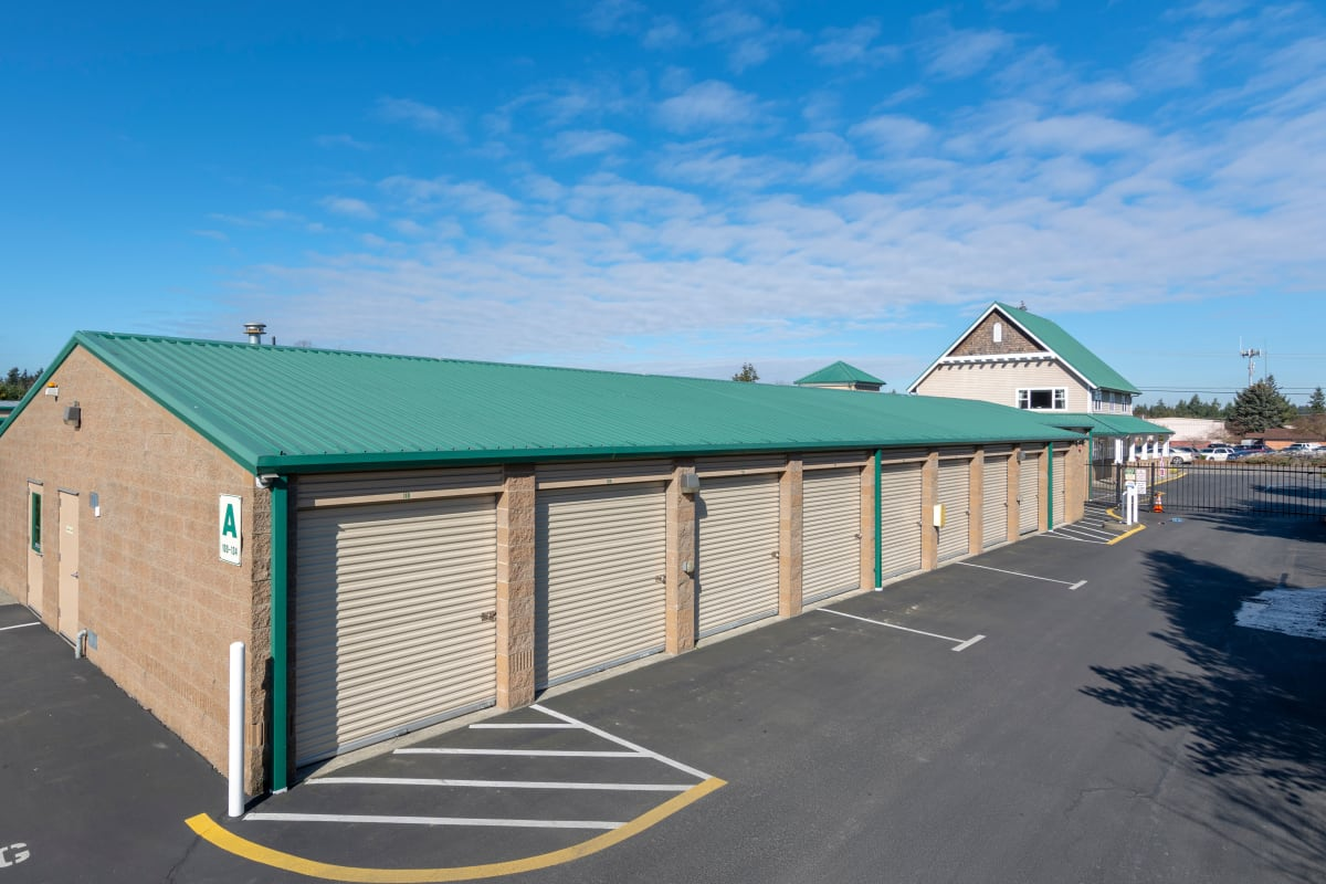 Exterior of the front office at Island Security Self Storage in Vashon, Washington