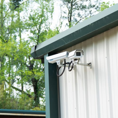 Security cameras at Red Dot Storage in Racine, Wisconsin