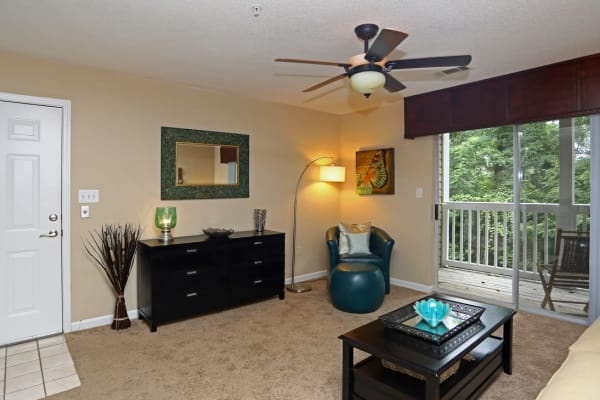 Private balcony or patio at Broad River Trace in Columbia, South Carolina