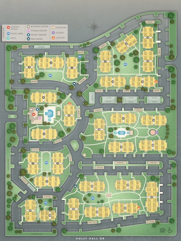 Site plan for IMT At The Medical Center in Houston, Texas