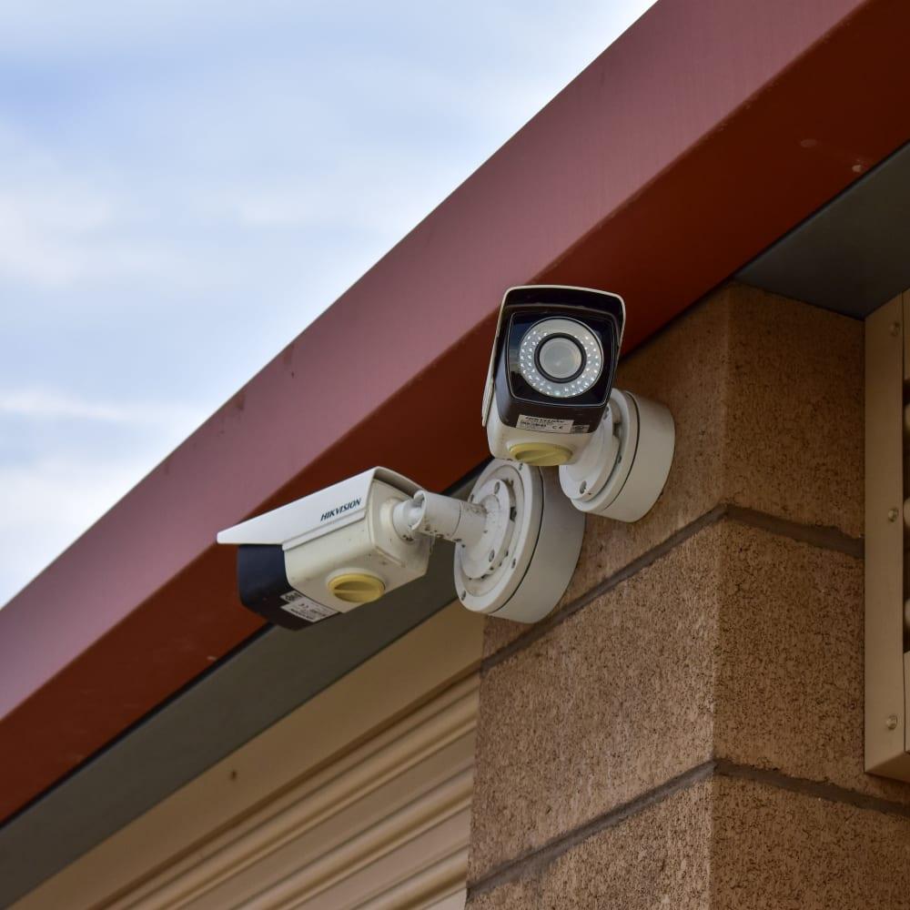 Video surveillance cameras at STOR-N-LOCK Self Storage in Redlands, California