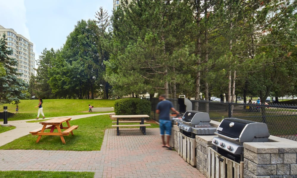 Community BBQ grills at 8 Silver Maple Court in Brampton, Ontario