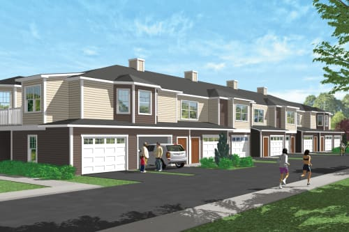9-unit exterior rendering at Enclave 50 in Ballston Spa, New York