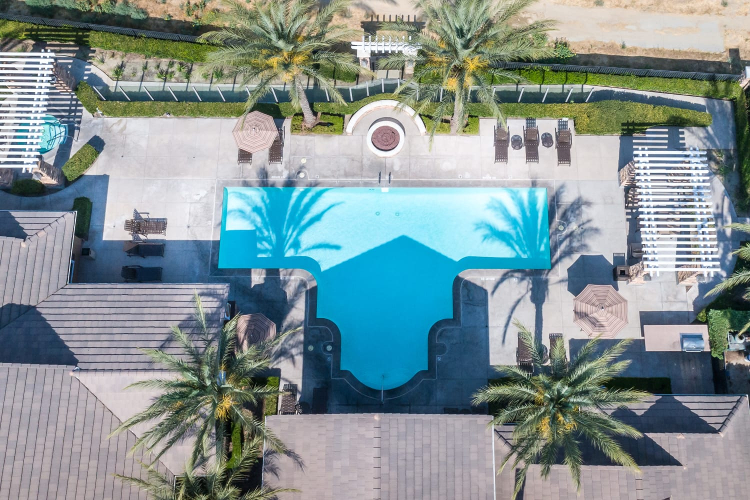 Enjoy a sparkling swimming pool at The Village on 5th in Rancho Cucamonga, California