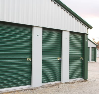 Exterior of storage units at Neighborhood Storage in Ocala, Florida