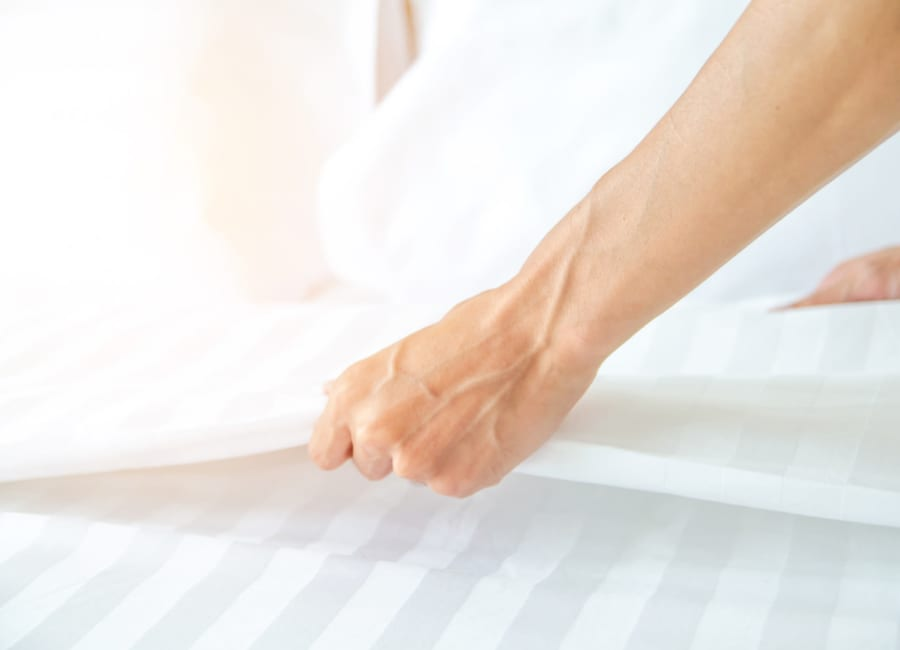 Staff changing bed linens at Clearwater at Sonoma Hills in Rohnert Park, California