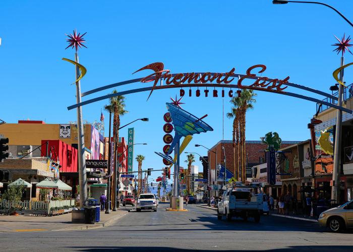 Fremont district near City Center Apartments in Las Vegas, Nevada