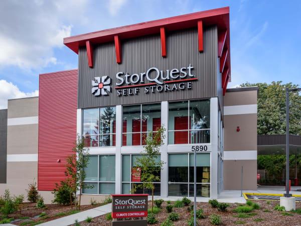 Exterior photo of StorQuest Self Storage in Seattle, Washington