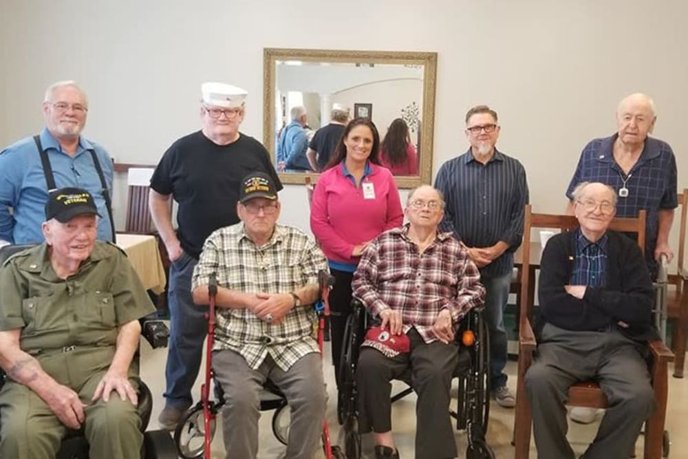 Veterans at Rosewood Assisted Living in Lafayette, Louisiana