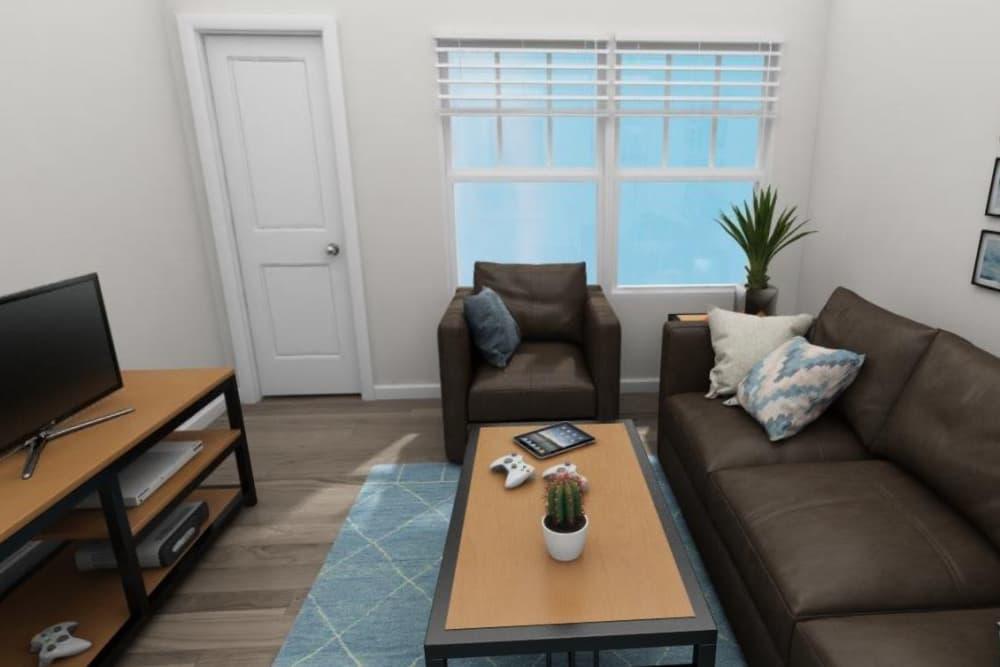 Cozy living room at The Flatts Salisbury