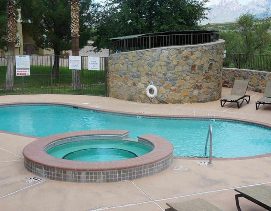 Cuestas Apartments swimming pool in Las Cruces, NM