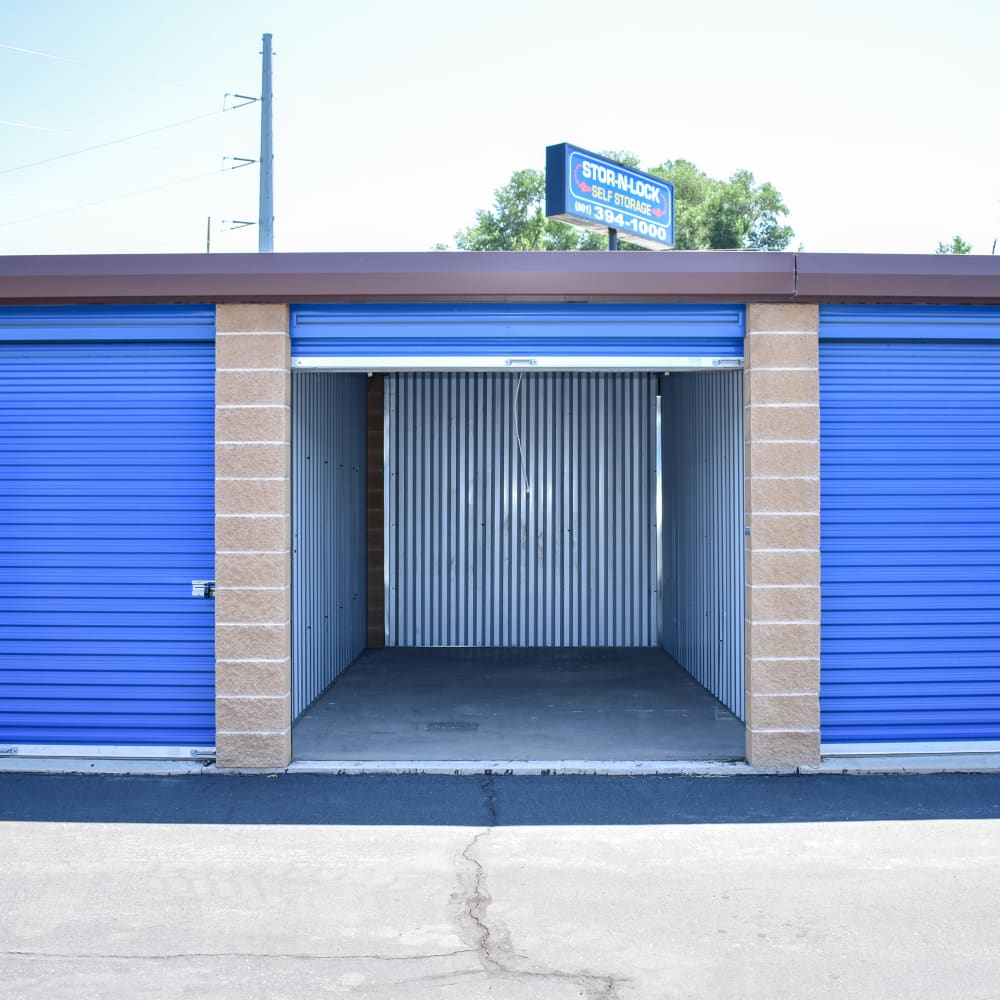 View the convenience of drive-up units at STOR-N-LOCK Self Storage in Riverdale, Utah