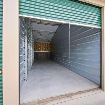 An open storage unit at Storage Star Cheyenne in Cheyenne, Wyoming