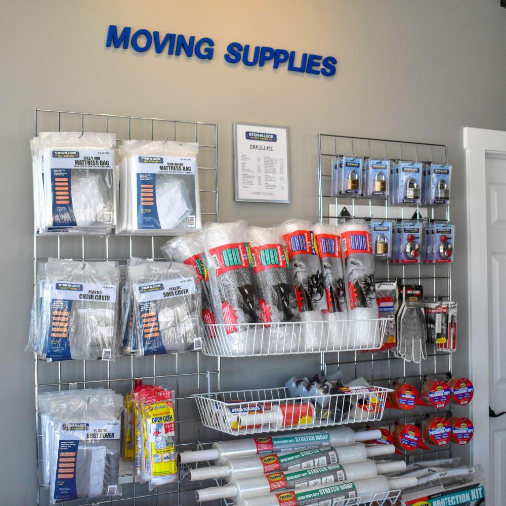 Moving supplies for sale at STOR-N-LOCK Self Storage in Colorado Springs, Colorado