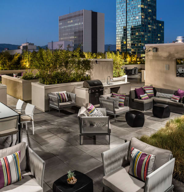 Take in the city from the rooftop lounge at Berkshire K2LA
