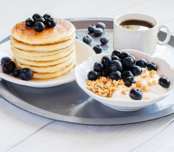 Blueberry pancakes and more available at Maplewood at Princeton in Plainsboro, NJ