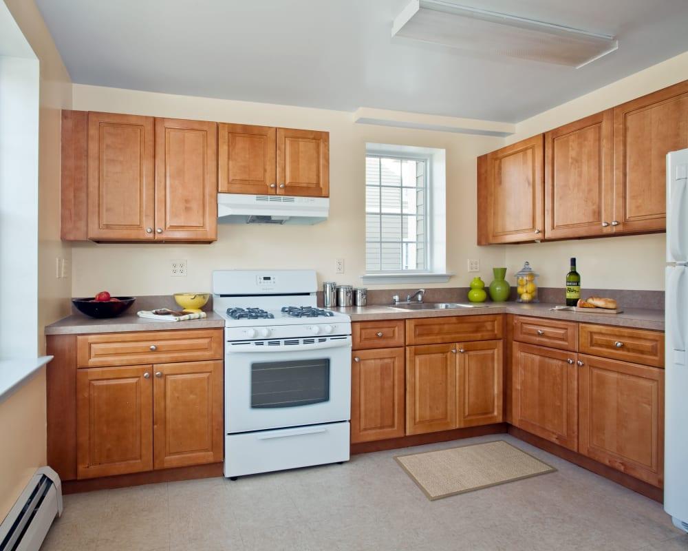 Large kitchen at Markham Gardens in Staten Island, New York