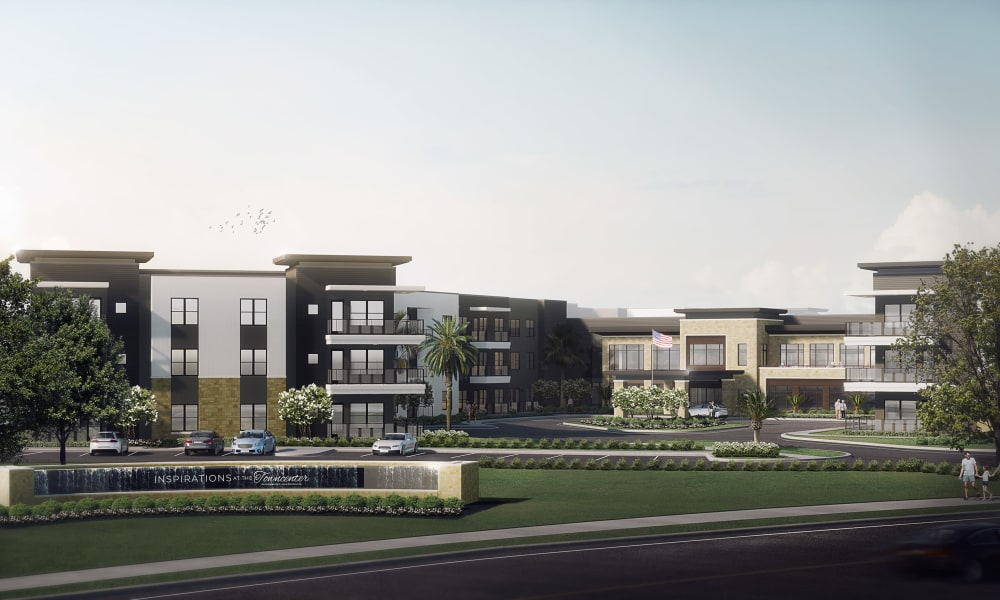 Rendering of Inspirations at the Towncenter in Jacksonville, Florida.