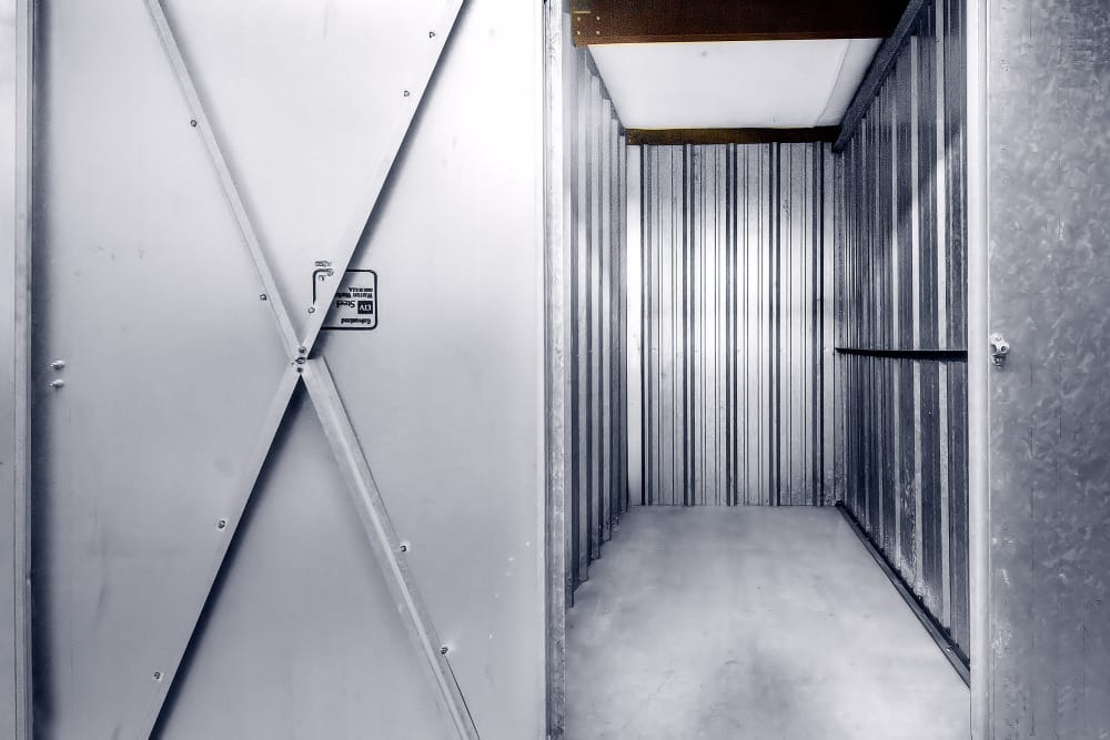 Interior view of unit at Prime Storage in Lansing, Michigan