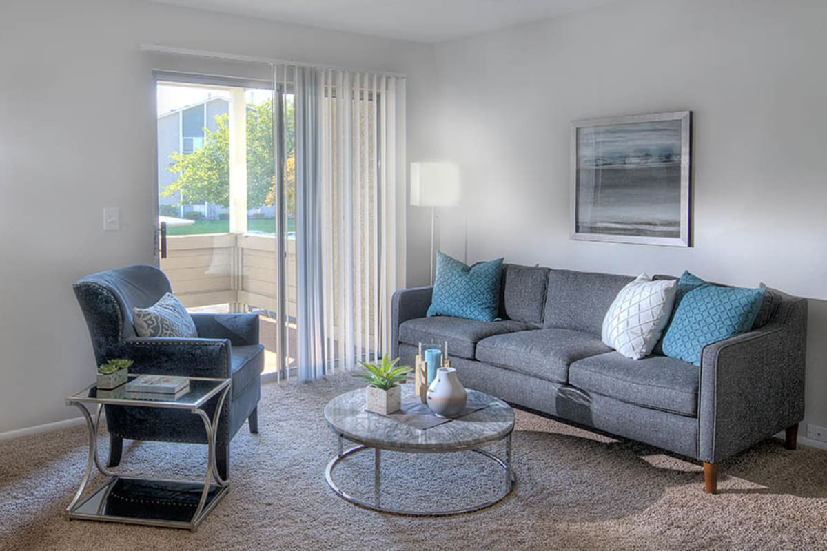 Spacious floor plans with a private balcony or patio at Brighton Place in Midvale, Utah.