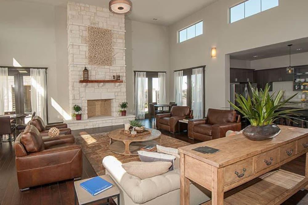 Community area at Carrington Oaks in Buda, Texas