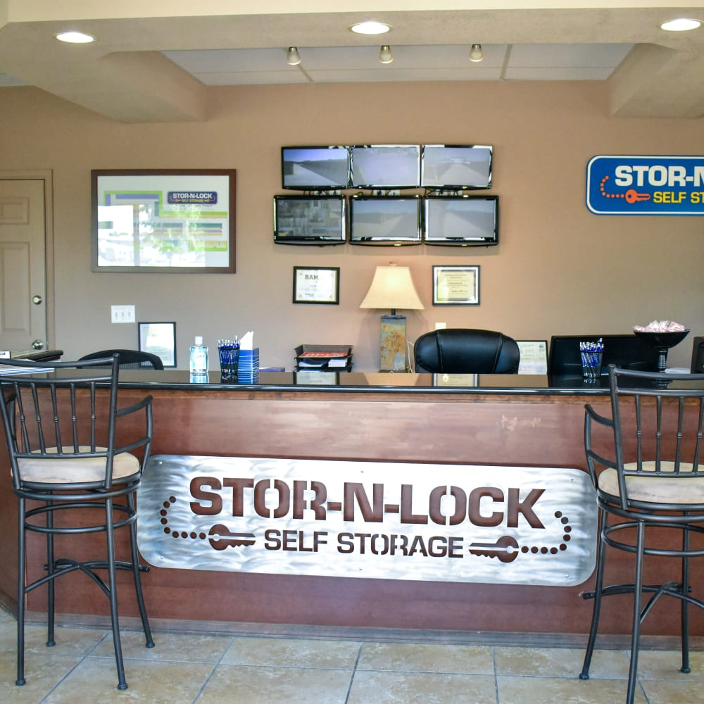 Inside the welcoming office at STOR-N-LOCK Self Storage in Fort Collins, Colorado