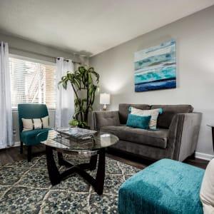 Model living room at Lexington Park Apartments in Smyrna, Georgia