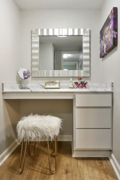 Bathroom vanity at The Mayfair Apartment Homes in New Orleans