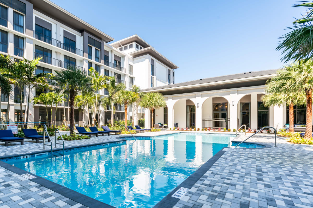 Resort Style Swimming Pool at Solera at City Centre in Palm Beach Gardens, Florida