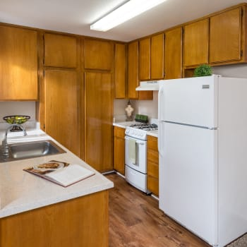 The Villas at Rowland Heights offers a fully equipped kitchen in Rowland Heights, CA