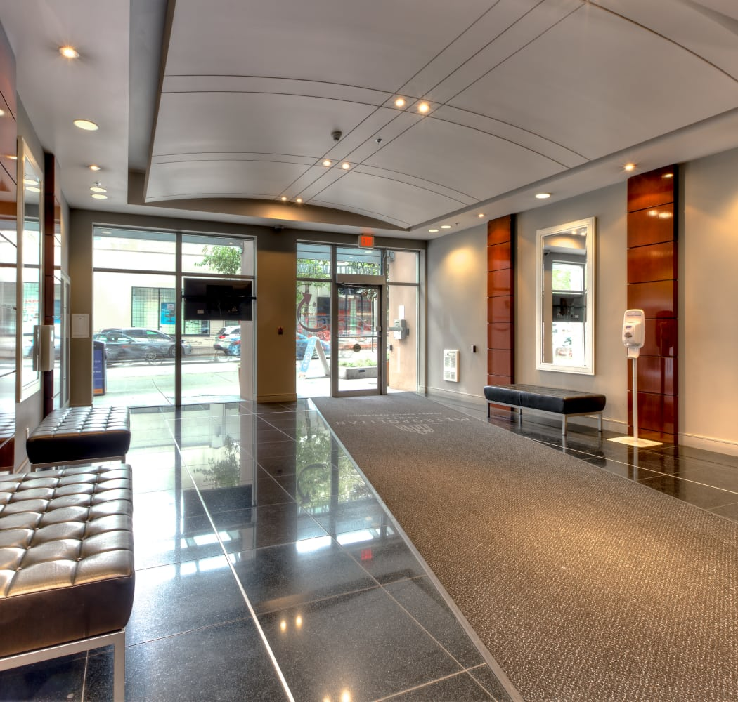 Beautiful entrance at Metropolitan Towers in Vancouver