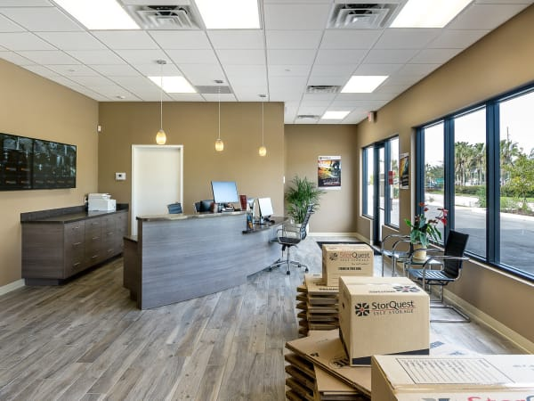 Leasing office at StorQuest Self Storage in Venice, Florida