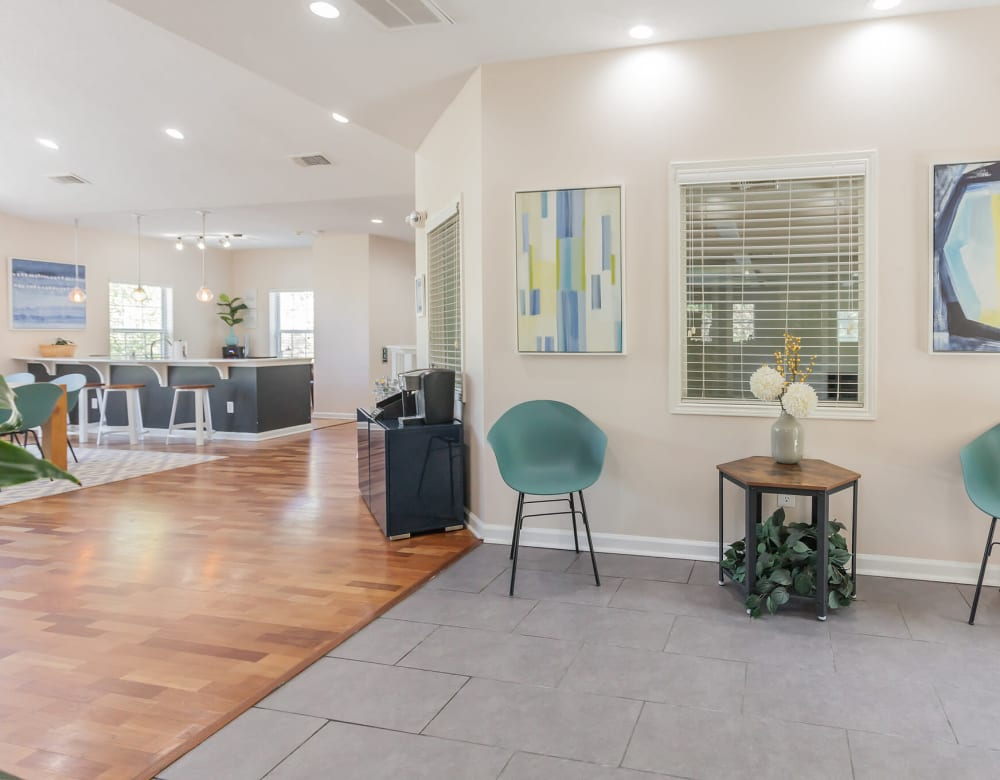Bright common area at Vista Point Apartments in Wappingers Falls, New York