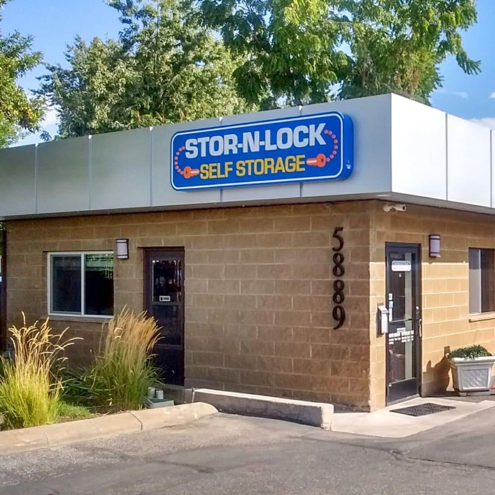 The front door at STOR-N-LOCK Self Storage in Boise, Idaho