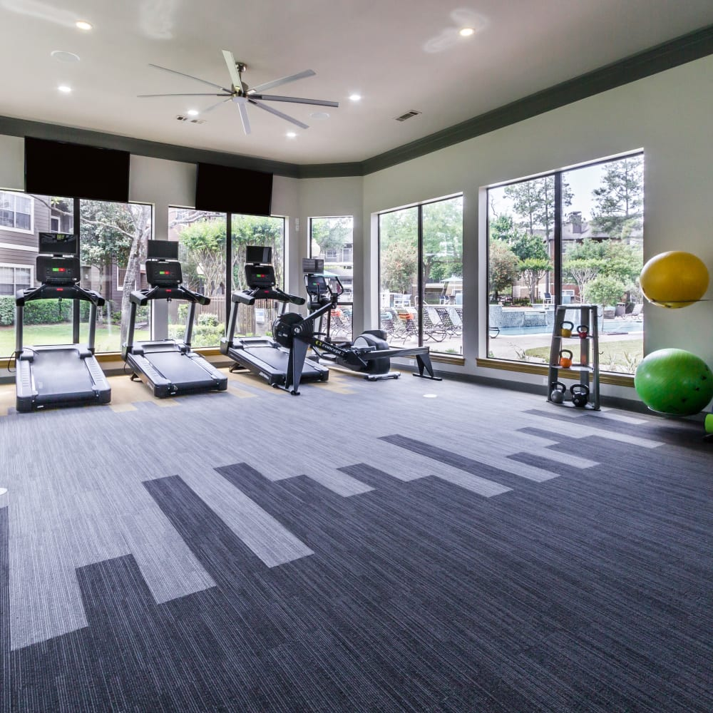 Stay healthy in the Legacy at Cypress fitness center in Cypress, Texas