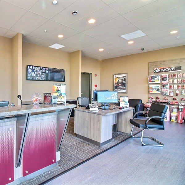 Interior of the leasng office at StorQuest Express Self Service Storage in Cape Coral, Florida