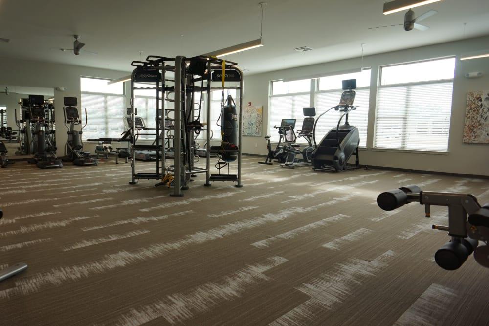 Great fitness room at Flats At 540