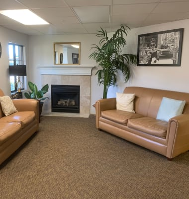 Lounge at Westminster Terrace Assisted Living Community in Westminster, California.