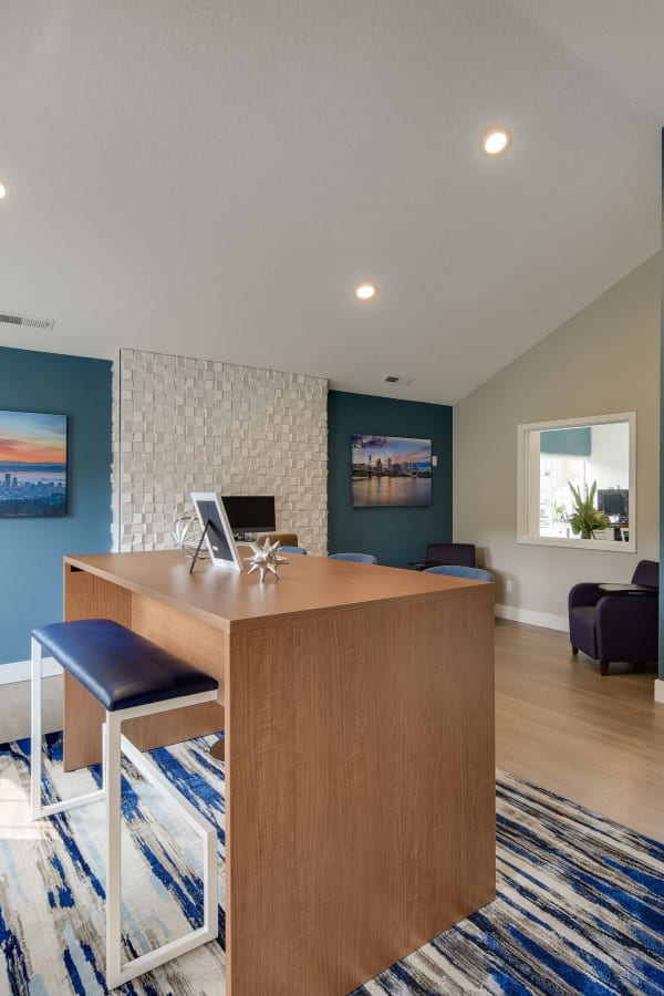 newly renovated business center at Carriage Park Apartments in Vancouver
