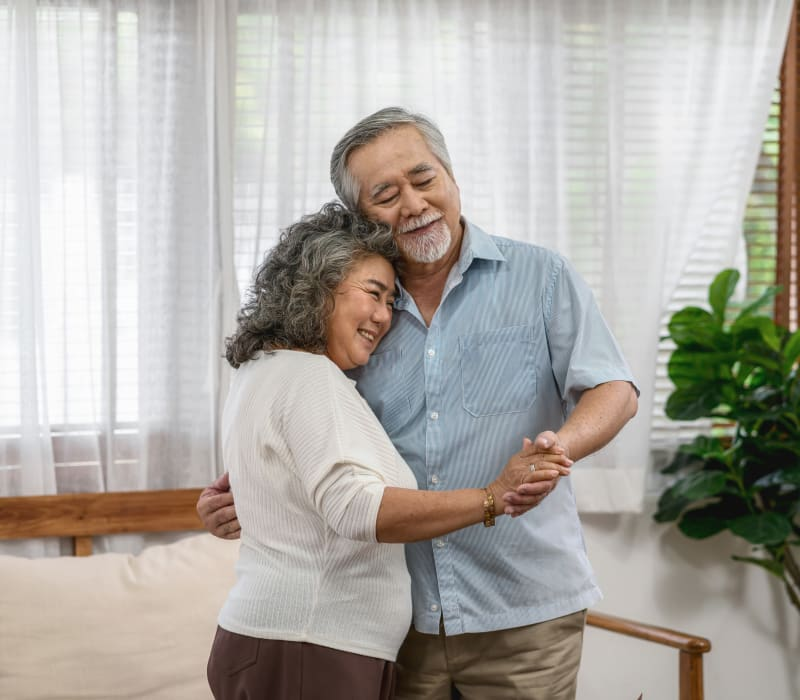 Two residents dancing at York Gardens in Edina, Minnesota