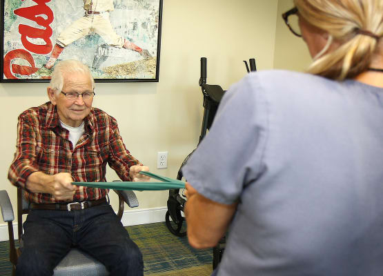 Phisycal therapy at Prairie House Assisted Living and Memory Care in Broken Arrow, Oklahoma