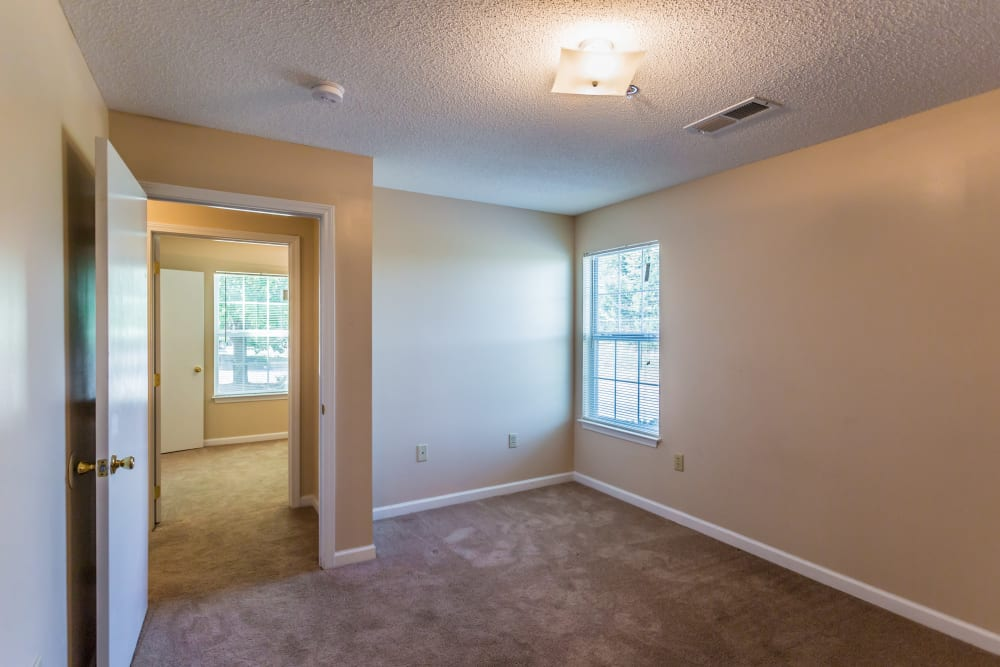 A spacious bedroom at Park Ridge Apartments in Jackson, Tennessee