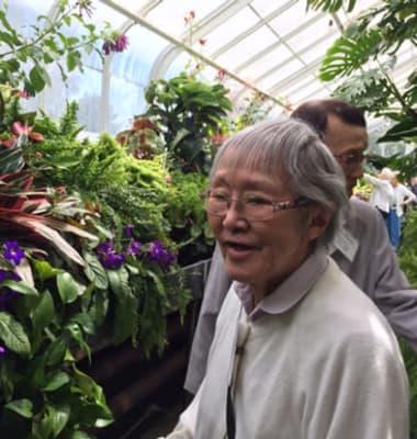 Senior woman at Nikkei Manor in Seattle, Washington.