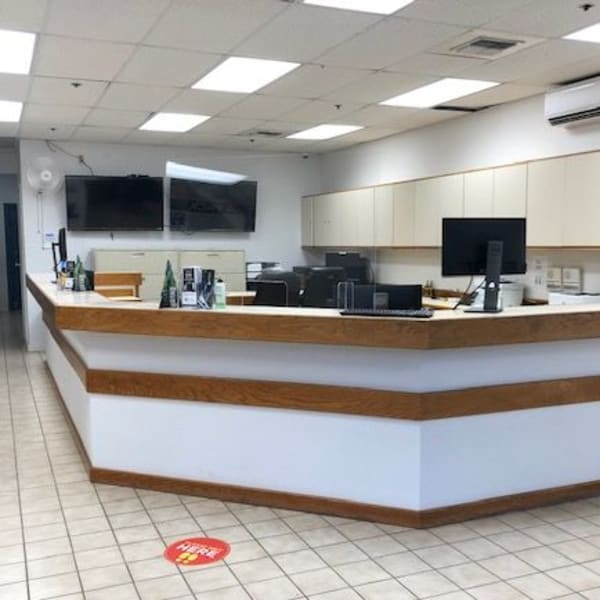 Interior of the leasing office at StorQuest Self Storage in Hilo, Hawaii